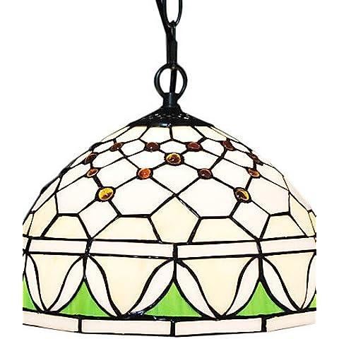 EIK 60W 1 - Light luce vetro Pendente con Fringe Floral Pattern , 220-240v