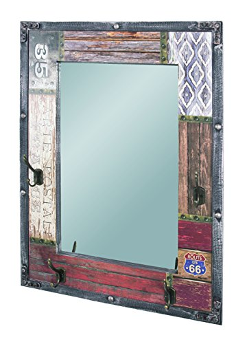 Haku-Möbel 28955 Wandgarderobe, Vintage, 8 x 55 x 75 cm
