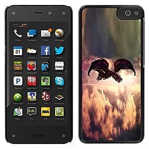 Amazon Fire Phone , JackGot - Buntes gedrucktes harte Schutzschicht zurück Deckung Haut Shell (Malerei Indie Rock Feather Gottes)