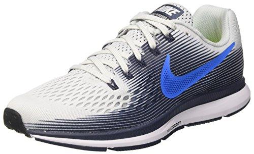 Nike Herren Air Zoom Pegasus 34 Laufschuhe, Mehrfarbig (Pure Platinum/Photo Blue/Thunder Blue), 45 EU