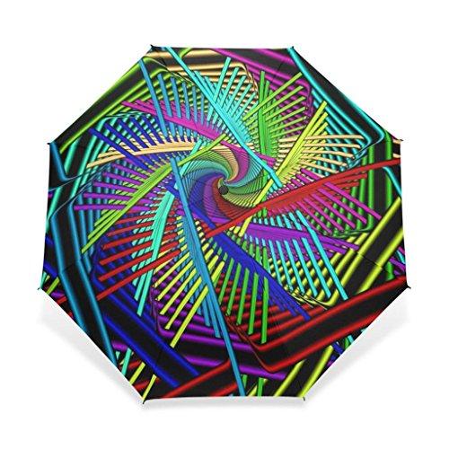 ENNE Colorful Spirale Sonnenschirm regen Faltbarer Regenschirm einfaches tragen Travel Kompakt...