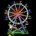 LIGHTAILING-Set-di-Luci-per-Creator-Expert-Ruota-Panoramica-Modello-da-Costruire-Kit-Luce-LED-Compatibile-con-Lego-10247-Non-Incluso-nel-Modello