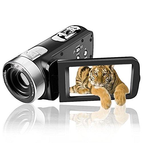 Camcorder Videokamera Full HD 1080P Camcorder 24.0MP Digitalkamera Webcam Break Funktion 16X Digitalzoom