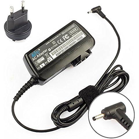 KFD 30W Adaptador Cargador Portátil para Asus Eee PC Seashell 1005P 1005PE 1005PEB 1001PX 1008 1008P 1008HA 1005HA 1005HAB 1001P 1001PXD 1001PXB 1101HA 1201 1201N 1201HA 1001HA 1011PX 1015P 1015PE 1015PN 1015PX 1016P X101H 1018 1018P Router Asus RT-N66U RT-N56U DSL-N55U RT-AC66U X101CH Fuente