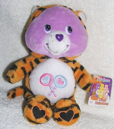 2005 Care Bears Happy Halloween 7 Plush Share Bear in Tiger Costume Bean Bag Doll by Play Along