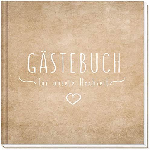 ästebuch Hochzeit - Hochwertiges Hardcover / 144 weiße Seiten / 21 x 21 cm/Hochzeitsgästebuch/Hochzeitsalbum/Hochzeitsbuch/Hochzeitsgeschenk ()