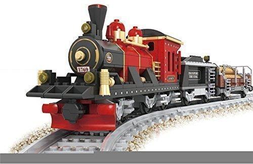 Tren De Juguete Locomotora Vagones 8 Piezas Gris Con Vías Compatibles #25705