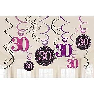 Decoraciones de remolino Amscan 9900597 por celebración de 30 años