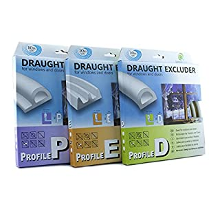 Quantum Garden 5MEGREY 5m E Profile EPDM Draught excluder Weather bar, Grey