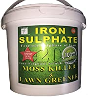 Iron Sulphate 1 KG Sulphate of Iron, Lawn Conditioner and Moss Killer