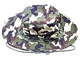 JITTY Sombrero Militar Del Camuflaje, Sombrero Redondo Del Sol, Sombrero Barril De Los Hombres Y Las Mujeres,Sombrero Del Pescador (Camuflaje De La Selva Tropical)