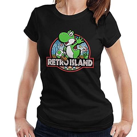Super Mario Jurassic Retro Park Women's T-Shirt