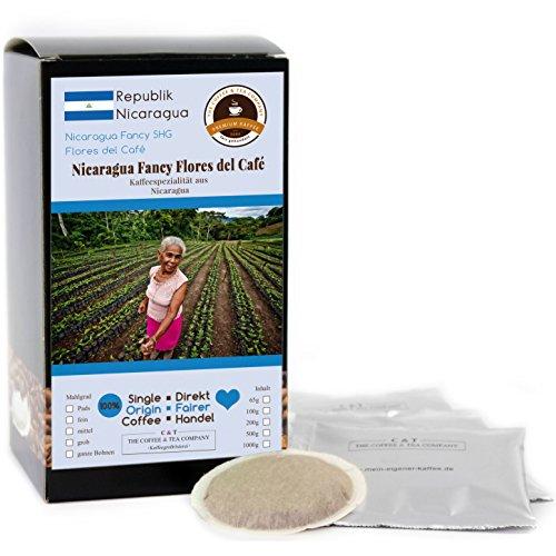 Kaffee Globetrotter - Kaffee Mit Herz - Nicaragua Los Papales - 15 Premium Kaffeepads - für Senseo Kaffeemaschine - Spitzenkaffee Fair Gehandelt Zur Unterstützung Sozialer Projekte