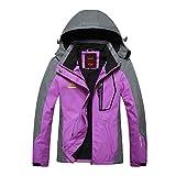 GITVIENAR Veste Randonnée Imperméable Softshell Coupe-Vent Manteau avec Capuche Veste de Sport pour Femme