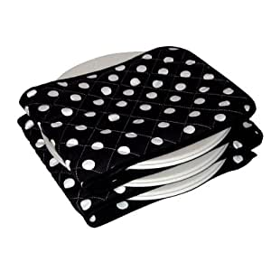 HotIdeas Polka Dot Hot Ideas Electric Plate Warmer 12 Plate, Black and White