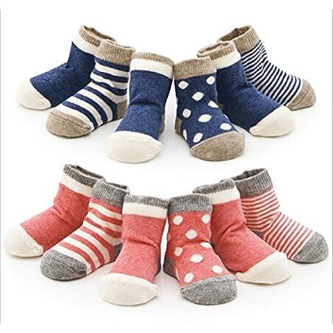4 Pack Bambino bambino ragazze dei ragazzi del cotone dei capretti calzini della banda Polka Dot Socks