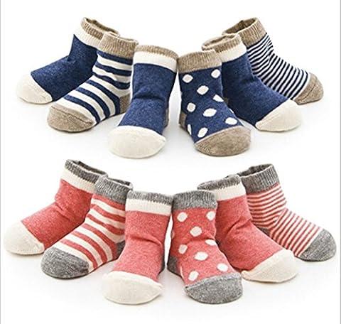 4 Paar Baby-Kind-neugeborenes Kind-Kleinkind -nette Socken aus Baumwolle (1-2 Jahre,