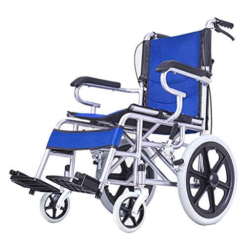 Omein Tragbarer Faltbarer Reiserollstuhl, Ultraleichter Transportrollstuhl für Behinderte, behinderter Roller, geeignet für ältere Menschen und Kinder