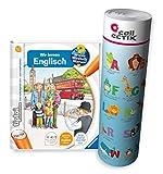Collectix Ravensburger tiptoi  Englisch Buch | Wir Lernen Englisch + Kinder Buchstaben Poster - Lern Tiere auf Englisch!