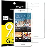 NEW'C Verre Trempé pour HTC Desire 728,[Pack de 2] Film Protection écran - Anti Rayures - sans Bulles d'air -Ultra Résistant (0,33mm HD Ultra Transparent) Dureté 9H Glass