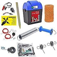 Kit Recinto elettrico Extra Power con filo ed accessori, recinti elettrici, equitazione, elettrificatore, cavallo, mucca, pony,