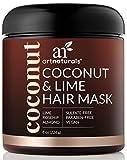 ArtNaturals Natureine Kokos-Limone Haarkur - (8 Oz / 226g) - Coconut & LIme Hair Mask - Intensiv-Kur und Feuchtigkeitsspender für alle Haartypen - mit Kokosnuss, Limone, Aloe Vera und Hagebuttenextrakt - Sulfatfrei, ohne Parabene