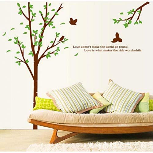 MWLSW Wandaufkleber Wohnzimmer Schlafzimmer Küchensofa mit DREI Generationen entfernbare Fernsehhintergrundaufkleber frischer Großhandelsbaum
