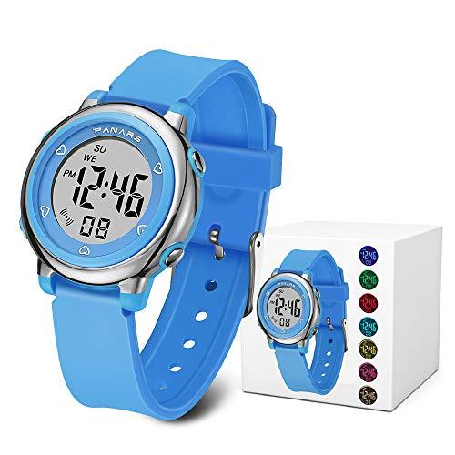 inder, Armbanduhr Jungen Wasserdicht Kinderuhr mit Alarm Uhr Mädchen Stoppuhr für 6-16 Jahre Kind ()