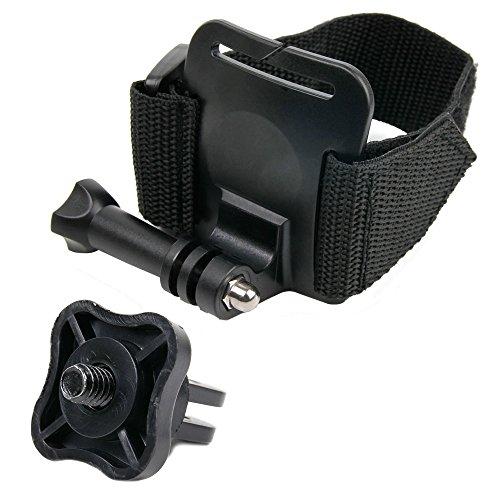 DURAGADGET Handschlaufen- / Handgelenk-Halterung mit Klettverschluss + Adapter mit Stativschraube für die Nikon KeyMission 80, KeyMission 170, KeyMission 360 und die iON Cool-iCam S3000 Action Kamera