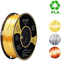 PLA Filament 1.75mm Silk Gold, ERYONE Silky Shiny Filament PLA 1.75mm, 3D Printing Filament PLA for 3D Printer and 3D Pen, 1kg 1 Spool
