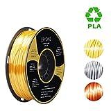 PLA Filament 1.75mm Silk Gold, Silk Silver, Silk Copper, ERYONE 3D Printing Filament PLA for 3D Printer and 3D Pen, 1kg 1 Spool