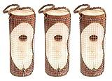 Gardigo Vogelfuttersäule 3er Set | Vogelhaus für den Garten - Aus FSC Holz | Futterspender zum Aufhängen, 20 cm Höhe