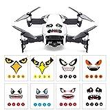 Yuyoug drone adesivi, pezzi, art Eagle Smile Emoji Shark decalcomania occhi di protezione per DJI Mavic Air, make your drone Shinning in cielo