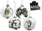 Gruppo Maruccia Palline per Albero di Natale in Vetro 12 Pezzi Assortiti