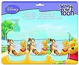 Winnie Puuh 721181 - Badset in Plastik bestehend aus: Zahnputzbecher, Seifenspender und Zahnbürstenhalter auf Blisterkarte 29 x 6 x 24 cm
