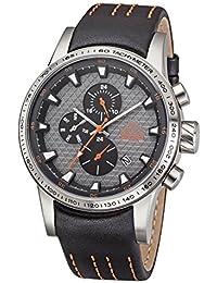 Kappa Reloj de hombre con correa de piel, indicación de fecha día de la semana GMT KP de 1434 m de c