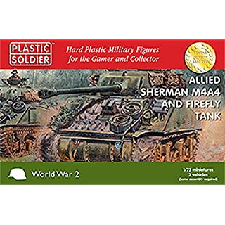 Plastic Solider 1/72 Allied Sherman M4A4 and Firefly Tank # WW2V20015