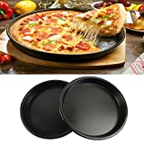 Pinkdose® Deep 9 Inch: 7/8/9/10/11 Inch Pizza Plate Baking Tools Pizza Tray Home Baking Oven Microwave Oven Use Non-Stick Pizza Pan Dish