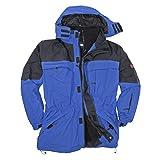 : Marc&Mark Blaue 3in1 Jacke I Winterjacke Herren I Kleidung Herren I Herrenjacke I Übergangsjacke I Outdoorjacke I Regenjacke in Übergröße bis 10 XL, Größe:3XL