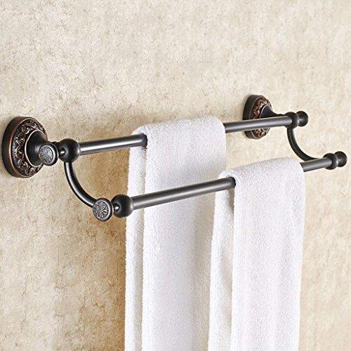 DSJ Handtuchhalter Antik Handtuchhalter Vollkupfer Handtuchhalter Europäischen Doppelpol Badezimmer Hardware Anhänger Badezimmer Handtuch Hängen,50 cm -