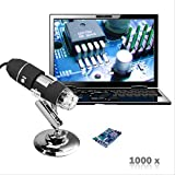Microscope USB - 2 méga pixels 1000X 8 LED microscope numérique USB, endoscope,...