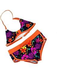 AMYMGLL Les enfants bikini l'Europe maillot de bain partagée fille maillot environnemental élevé piscine pataugeoire élastique