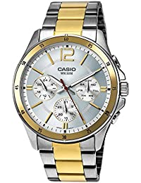 Casio Enticer Analog White Dial Men's Watch - MTP-1374SG-7AVDF (A954)