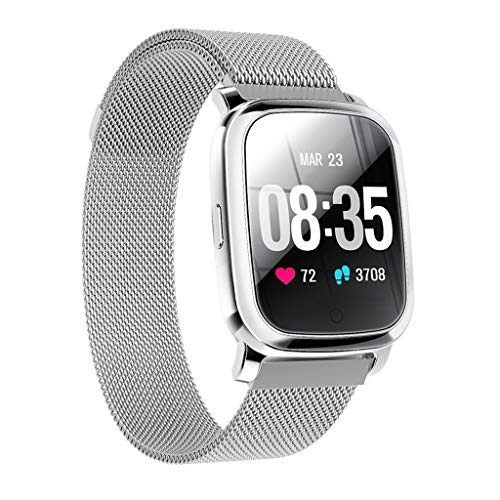 Happy Event Fitness-Armband, CV06 wasserdicht IP68 Fitness-Tracker mit Herzfrequenz-Messgerät 1,3 Zoll Bildschirm Aktivitäts-Tracker Fitness-Uhr Herzfrequenz-Schrittzähler Uhr für Männer Damen - Nike Damen Neueste Schuhe