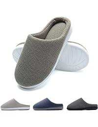 Zapatillas de casa de Hombre, Ultraligero cómodo y Antideslizante, Zapatilla de Estar por casa para Hombre, Gris Verdoso, EU 44-45 (Longitud 28-28.5CM)