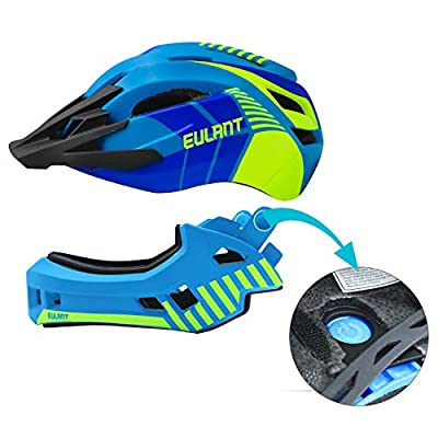 EULANT Kids Bike Helmets, Updated Version Full Face Helmet with Chin Guard for Children, Protective Safety Helmet for Boys & Girls for Balance Bike,Scooter,Roller Skates by EULANT
