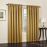 """54\ W X 95\ L , Gold : Gramercy Room Darkening Panel 54""""W X 95""""L, Gold"""