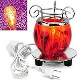 Global AC100V Lampe Chauffante Parfumée Electrique Brûleur à Cire Ampoule Diffuseur Parfum Violet Rouge