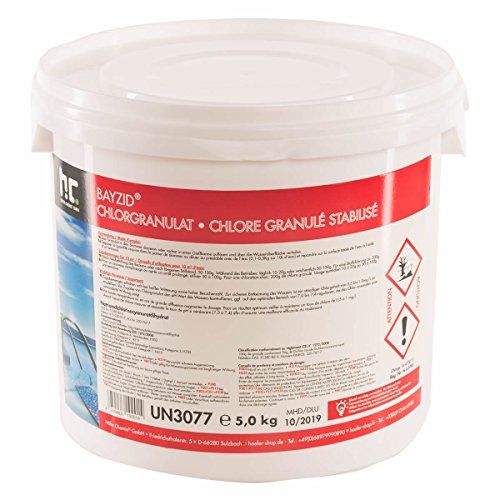 Höfer Chemie 5 kg BAYZID ® Chlor Granulat wirkt schnell und zuverlässig für Pool und Schwimmbad - versandkostenfrei bestellen