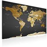 murando - Weltkarte Pinnwand 120x80 cm Bilder mit Kork Rückwand 1 teilig Vlies Leinwandbild Korktafel Fertig Aufgespannt Wandbilder XXL Kunstdrucke Landkarte Kontinent k-A-0104-p-c